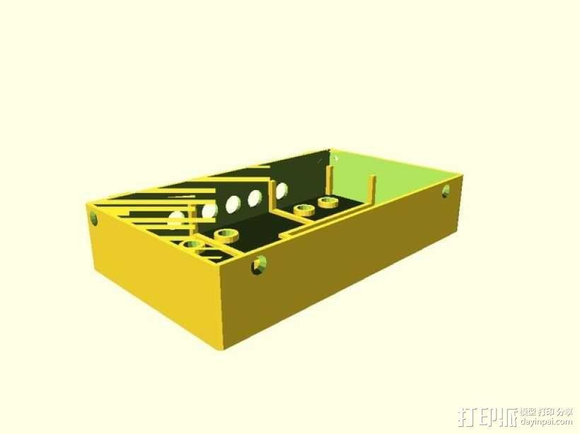 电源保护盒 3D模型  图2