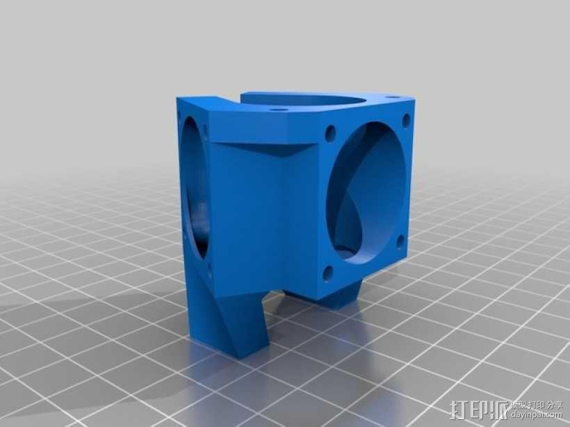 喷嘴支架 风扇支架 3D模型  图2