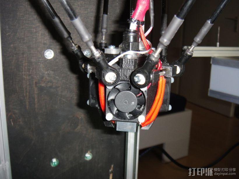 喷嘴支架 风扇支架 3D模型  图1