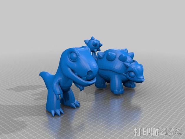 小恐龙 3D模型  图2