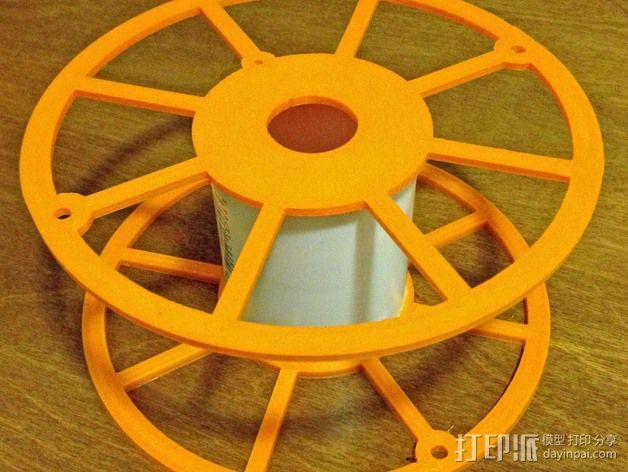 3D打印机线轴架 3D模型  图3