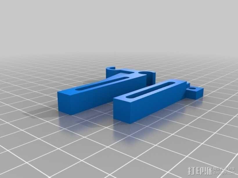 打印机Y轴限位开关支架 3D模型  图3