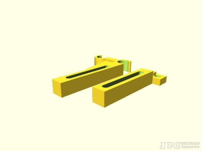打印机Y轴限位开关支架 3D模型  图2