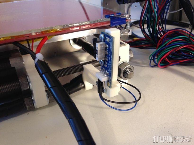 打印机Y轴限位开关支架 3D模型  图4