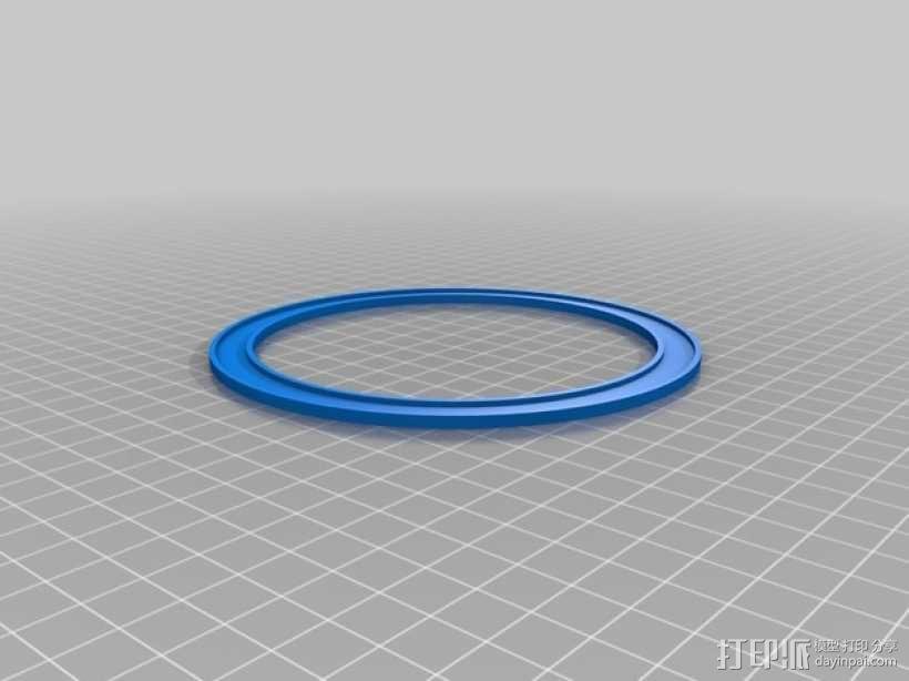 平放式线轴 3D模型  图3
