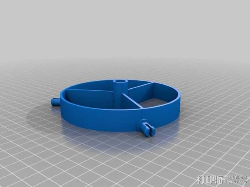 平放式线轴 3D模型  图2