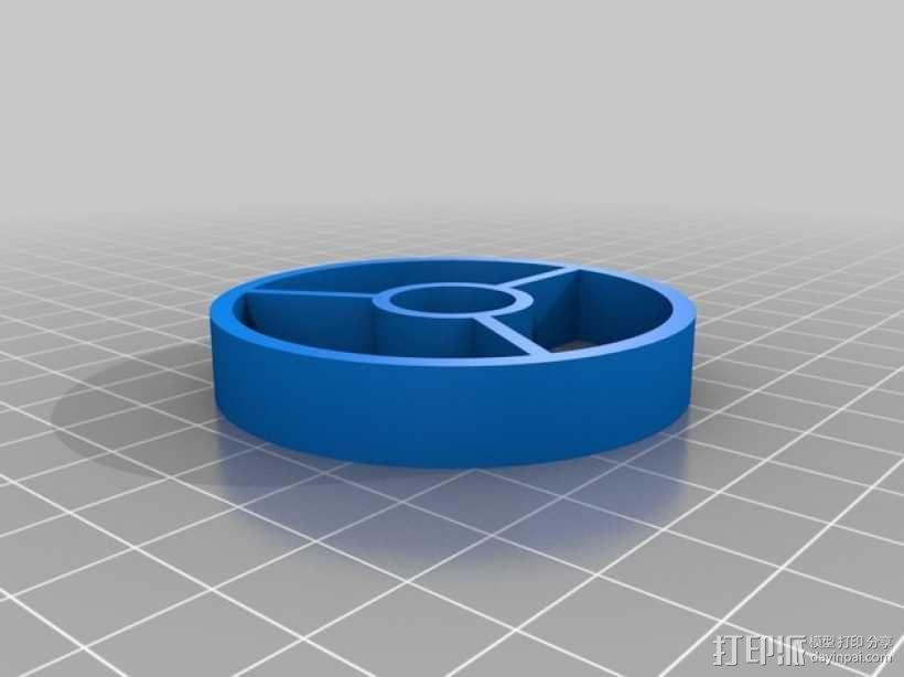 平放式线轴 3D模型  图4