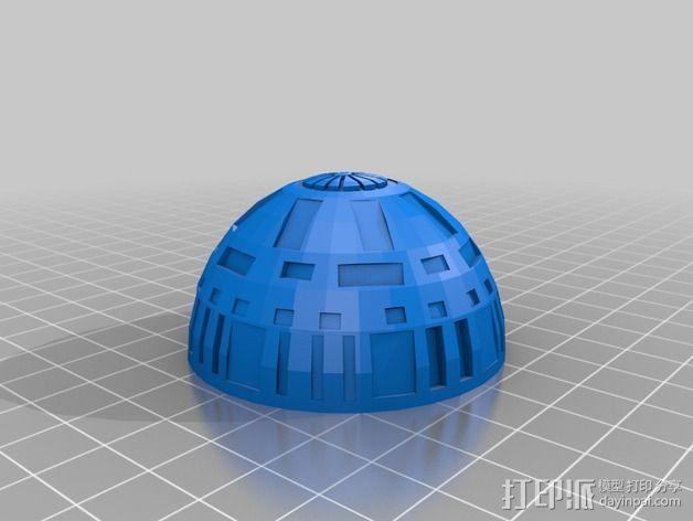 死亡星球球形灯 3D模型  图2