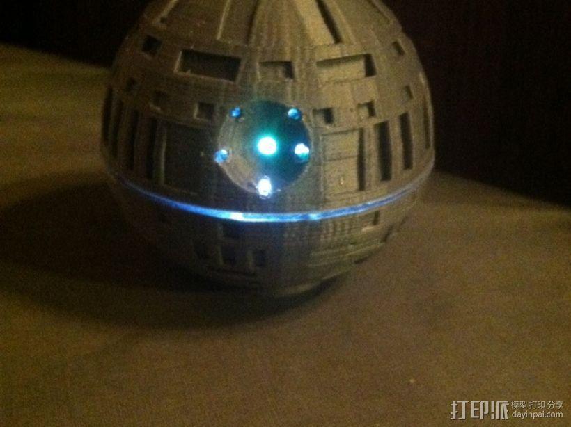 死亡星球球形灯 3D模型  图1