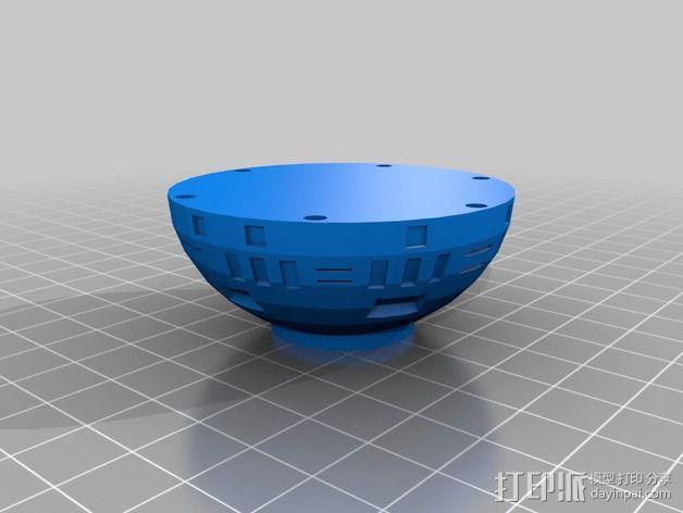 死亡星球球形灯 3D模型  图3