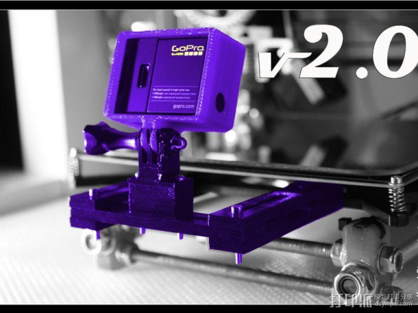 GoPro Hero 3相机支架 3D模型  图1