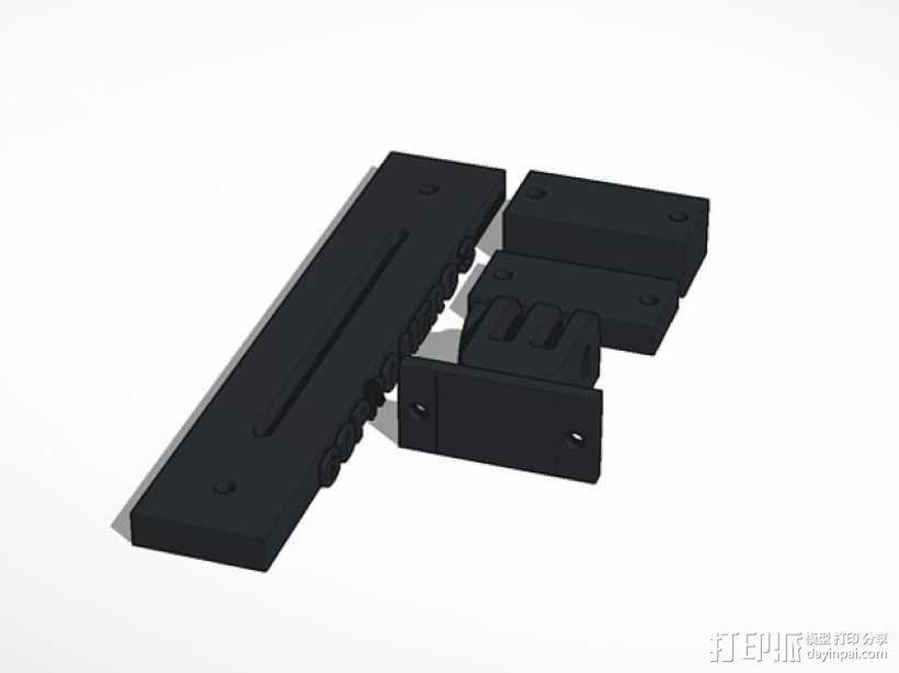 GoPro Hero 3相机支架 3D模型  图5