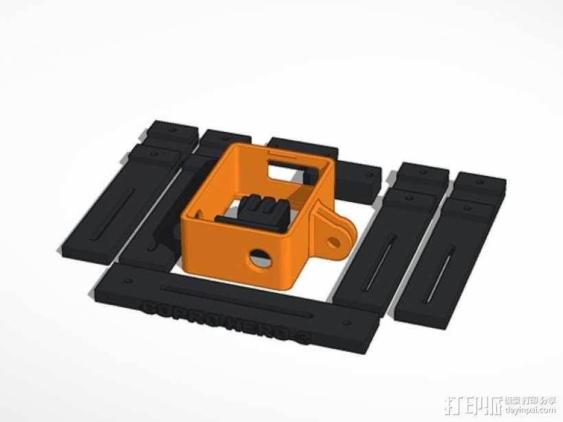 GoPro Hero 3相机支架 3D模型  图3