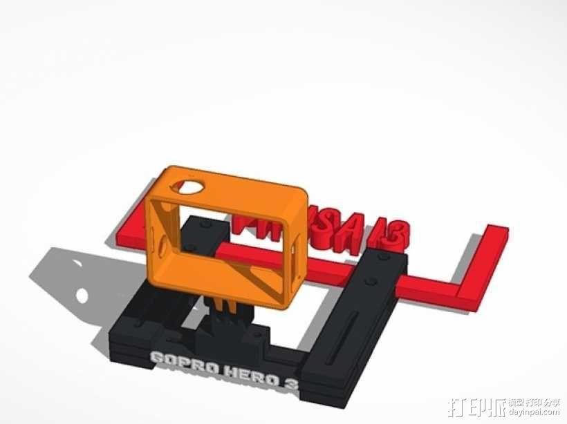 GoPro Hero 3相机支架 3D模型  图2