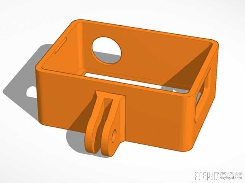 GoPro Hero 3相机支架 3D模型  图4