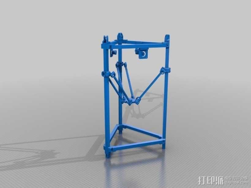 Delta 式3D打印机 3D模型  图1