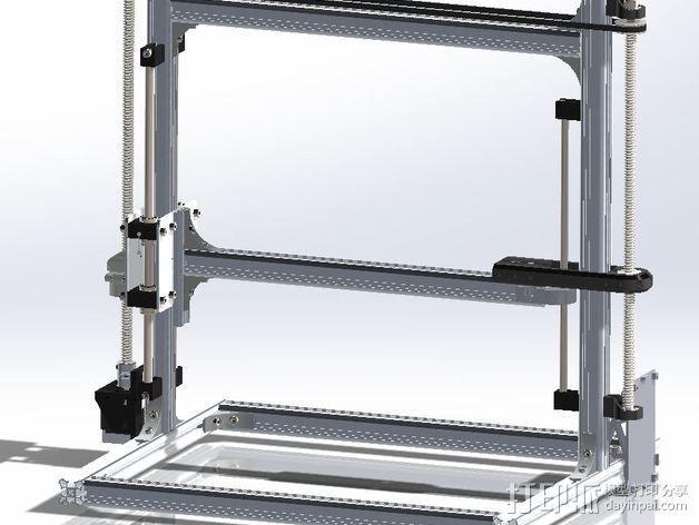 Velleman K8200打印机Z轴 3D模型  图1