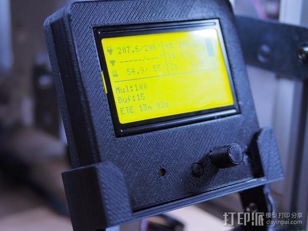 智能控制器显示屏支架 3D模型  图1