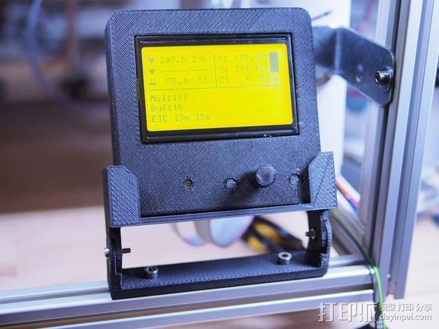 智能控制器显示屏支架 3D模型  图4