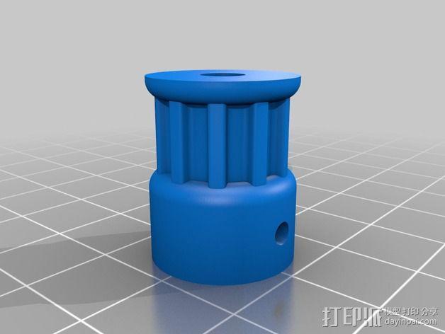 T5皮带滑轮 3D模型  图2