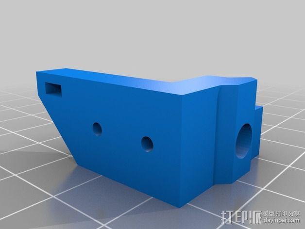 打印机限位开关支架 3D模型  图2