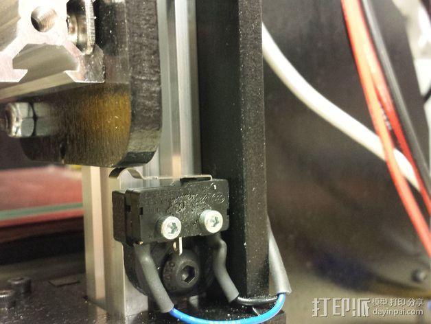打印机限位开关支架 3D模型  图4