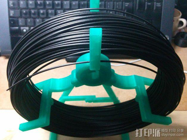 折叠式线轴支架 3D模型  图1