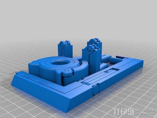 折叠式线轴支架 3D模型  图2
