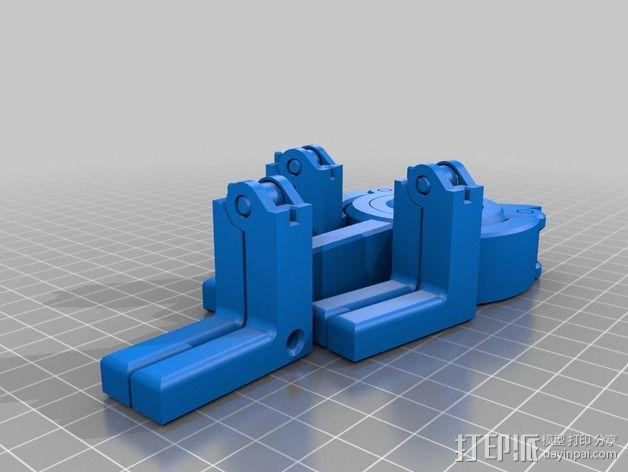 折叠式线轴支架 3D模型  图3