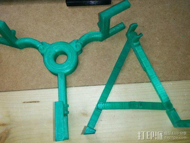 折叠式线轴支架 3D模型  图10