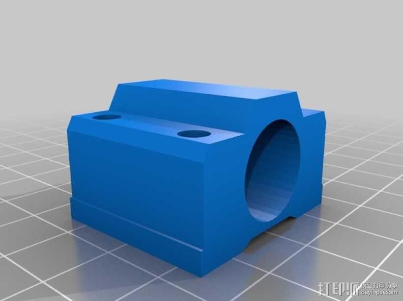 轴承托 轴承架 3D模型  图2