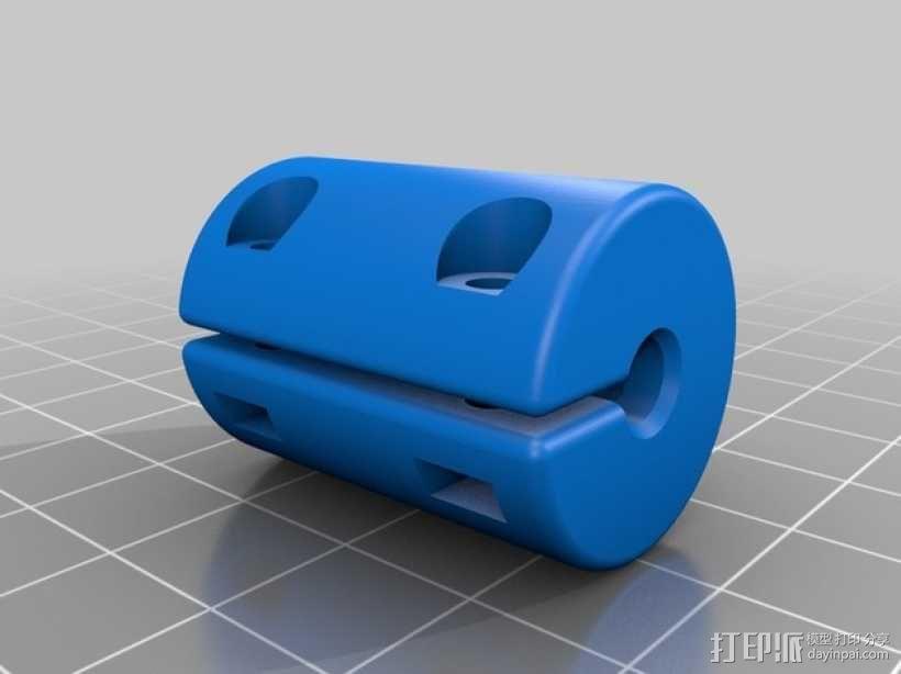 打印机Z轴耦合器 3D模型  图1