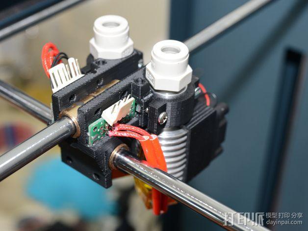 双喷头支架 3D模型  图4