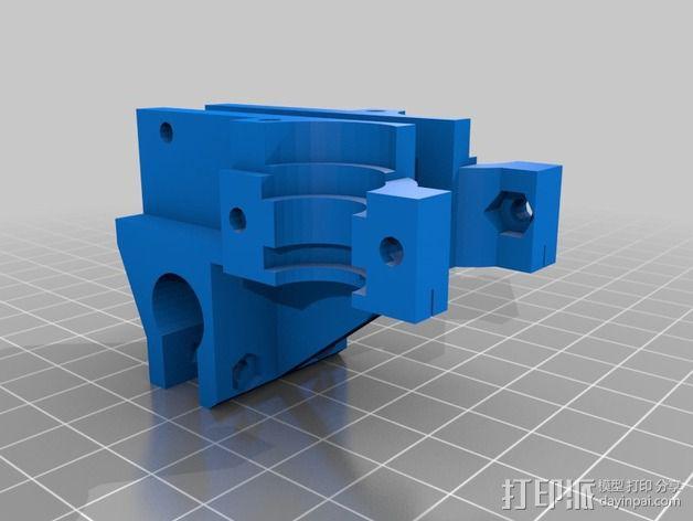 双喷头支架 3D模型  图2