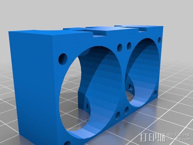 双喷头支架 3D模型  图7