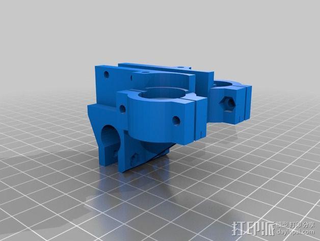 双喷头支架 3D模型  图6