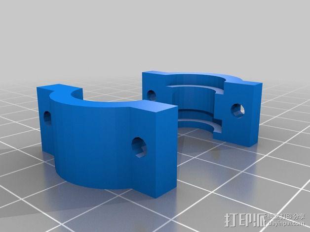 双喷头支架 3D模型  图9