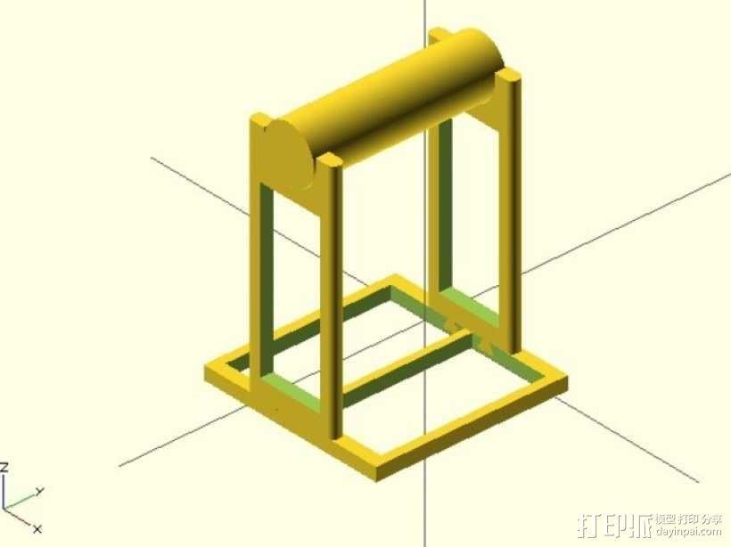 线材架 线轴架 3D模型  图4