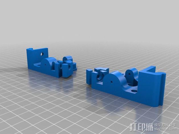 直线驱动鲍登挤出机 3D模型  图2