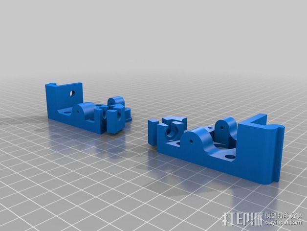 直线驱动鲍登挤出机 3D模型  图3
