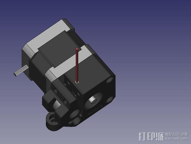直线驱动挤出机 3D模型  图10
