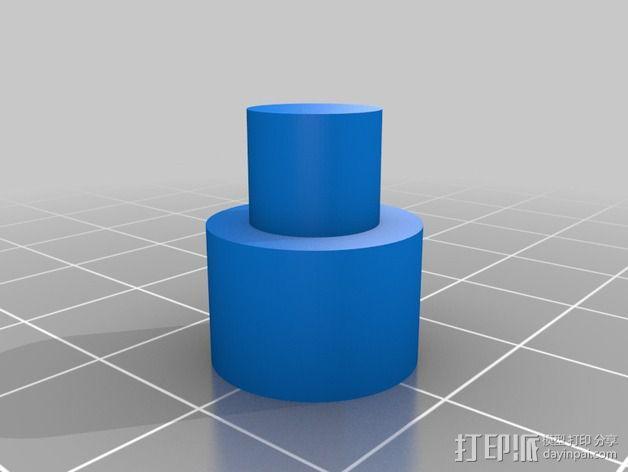 QU-BD One/Two-Up打印机Z轴顶部框架 3D模型  图4