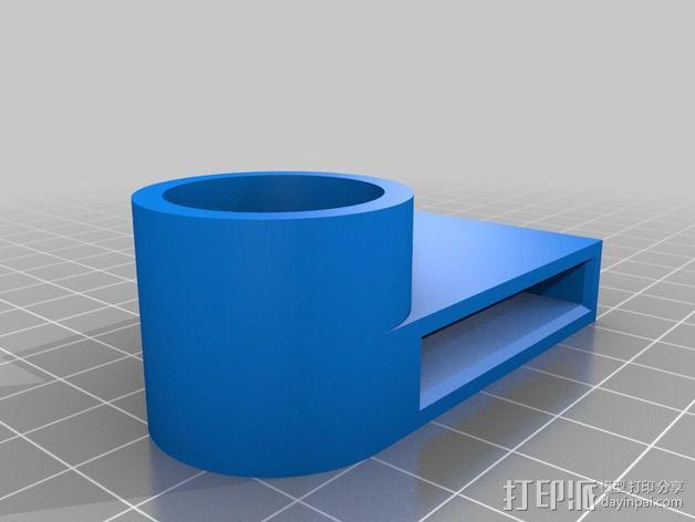 QU-BD One/Two-Up打印机Z轴顶部框架 3D模型  图3