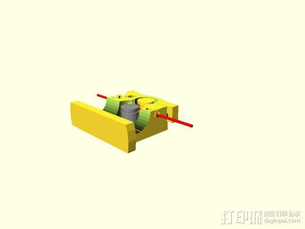 鲍登挤出机 3D模型  图3