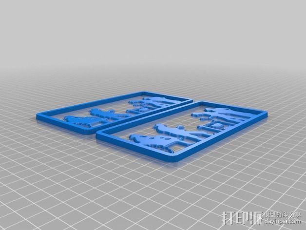 营火主题信件收纳架 3D模型  图2