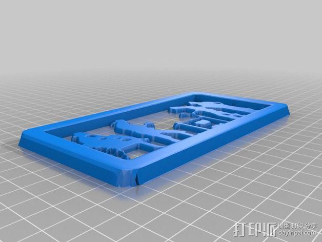 营火主题信件收纳架 3D模型  图3