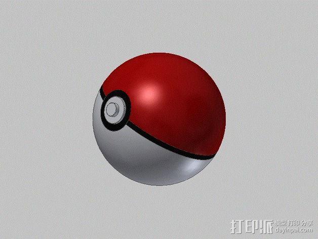 口袋妖怪球  3D模型  图1