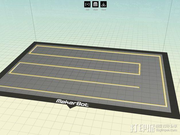 打印床盘式水准器 3D模型  图1