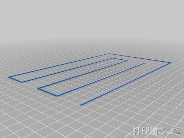 打印床盘式水准器 3D模型  图2