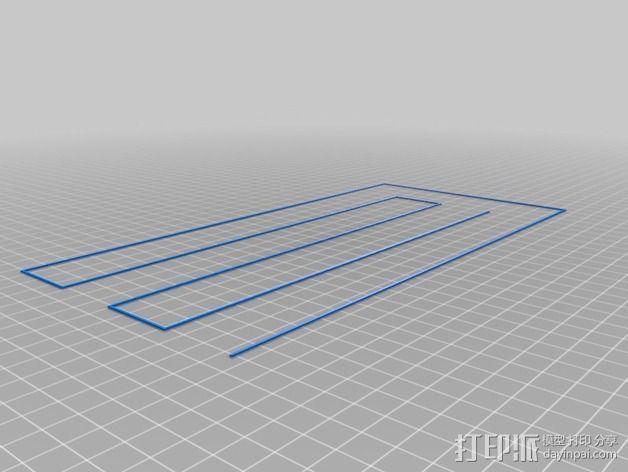 打印床盘式水准器 3D模型  图3